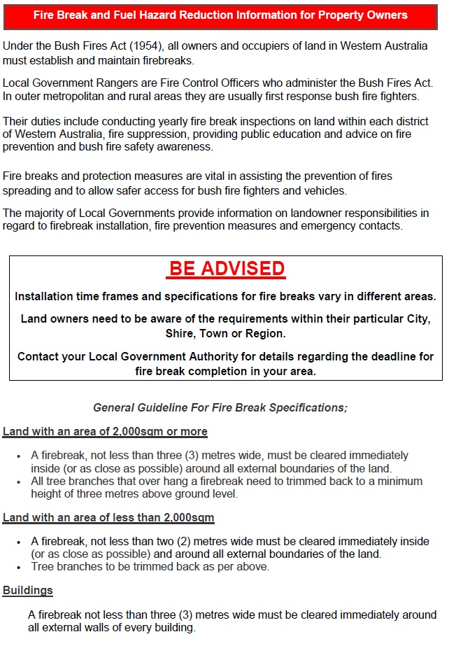 Fire Break and Hazard Reduction Page 1