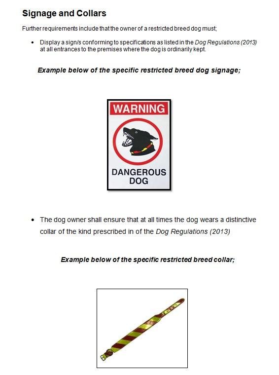 Restricted Breed Dogs PAGE 5a