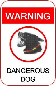 Dangerous Dog Signage