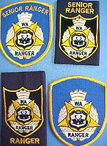 Ranger & Senior Ranger arm badges and epaulettes.