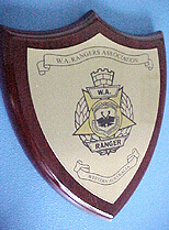 WA Rangers Association wall plaques