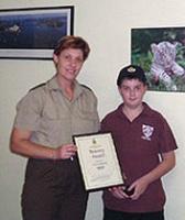 Aaron Wiggins Junior Ranger No 6