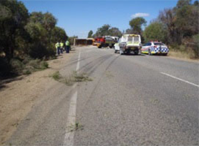 Truck Roll over Brand Highway - Shire of Gingin